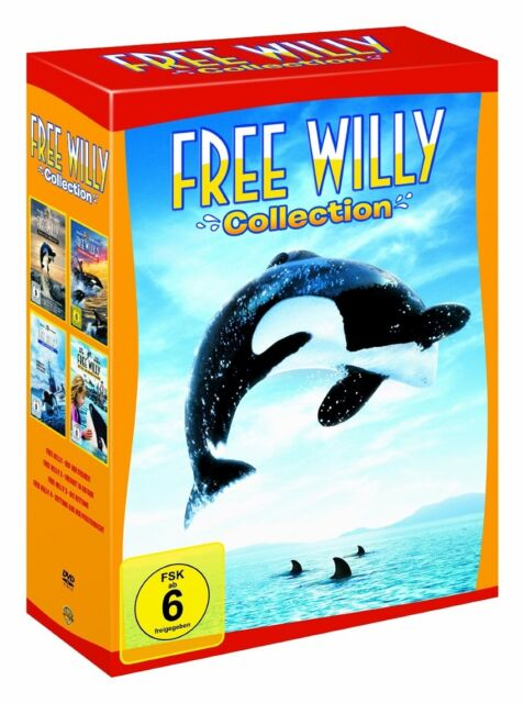 Free Willy Collection - Teil 1+2+3+4 * NEU OVP * 4 DVDs * Komplettbox