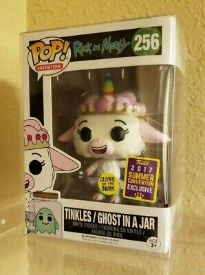 Brand New Funko Pop! Rick and Morty #256 Tinkles w/ Ghost in a Jar SDCC