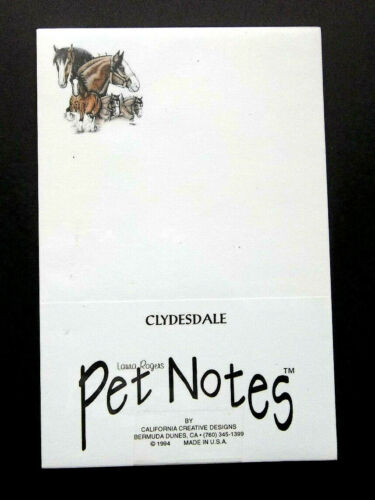 Clydesdale Horse Notepads