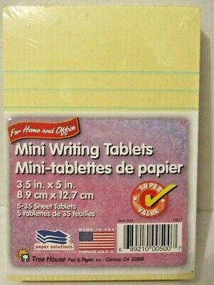 Writing Mini Legal Pads Yellow 3.5 X 5 Ruled Writing Mini Pads 5 Pack