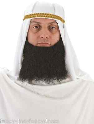 Erwachsene Herren Weiß Arabisch Kopfschmuck Turban Kostüm Kleid Outfit - Arabische Kostüm Schmuck