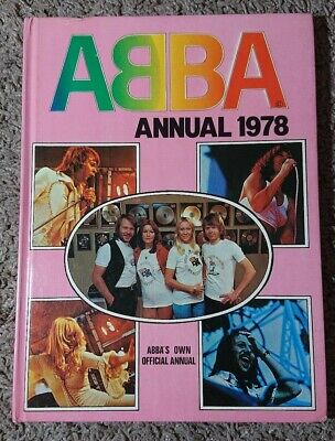 The Official ABBA Annual 1978 Hardback Book Unclipped