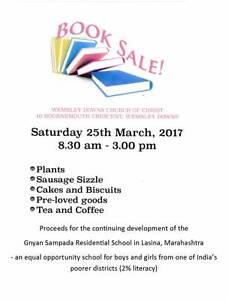 Giant Book Sale Plus Wembley Downs Stirling Area Preview