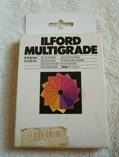 "ILFORD MULTIGRADE 3 1/2 "" X 3 1/2"" SET OF 12 FILTERS LN"
