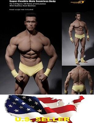 1/6 Phicen PL2016-M34 Flexible Seamless Male Super Muscular Body Steel Skeleton