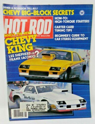 Hot Rod Magazine November 1983 - Who