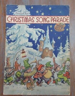 Treasure Chest 1938 CHRISTMAS SONG PARADE George Carlson ARTWoRK Coloring Pages](Treasure Chest Coloring Page)