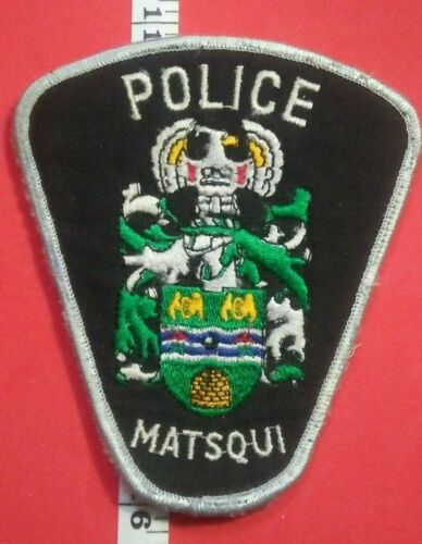 Obsolete Matsqui BC Police Service Patch