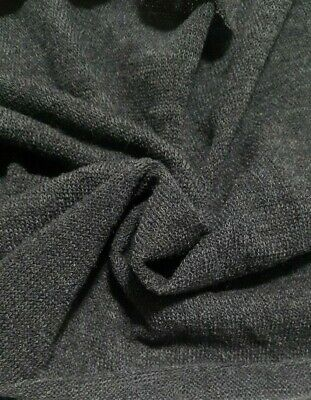 DARK GREY MELANGE STRETCH SWEATER KNIT FABRIC-SOLD BY THE METRE