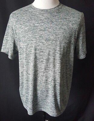 Basic Scoop Neck Tee (Rebook Men's Basic Tee Size Larege Green White Casual T Shirt Scoop Neck)