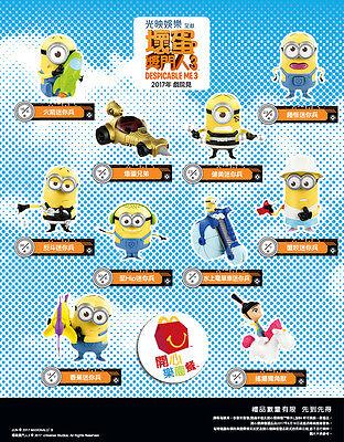 2017 Asia The Despicable Me 3 Minions McDonalds Toys Complete Set 10 PCS