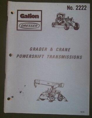 Galion Dresser Grader Crane Powershift Transmission Service Maintenance Manual