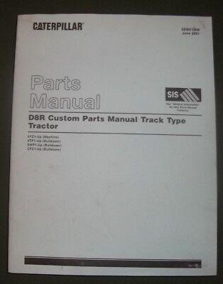 Cat Caterpillar D8r Crawler Tractor Dozer Parts Book Manual Sn 6yz00001-up