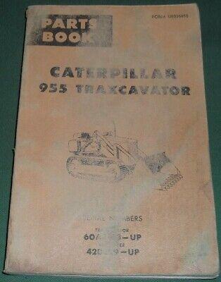 Caterpillar 955 Traxcavator Track Loader Parts Book Manual Sn 60a8413-up