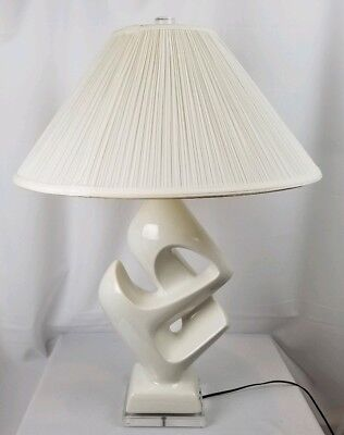 Vintage Royal Haeger Lamp With Lucite Base And Finial for sale  Boca Raton