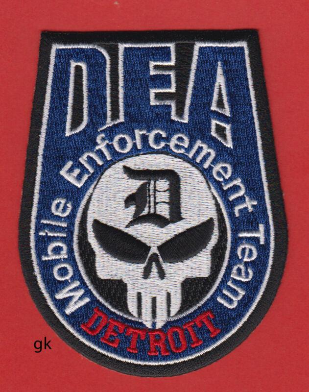 DEA DETROIT DRUG MOBILE ENFORCEMENT TEAM POLICE SKULL  SHOULDER  PATCH