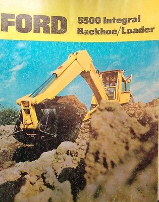 Ford 5500 Integral Color Tlb Tractor Loader Backhoe Sales Brochure Catalog Dirt