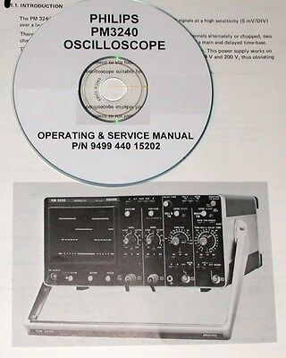 Philips Pm3240 Oscilloscope Technical Operating Service Manual