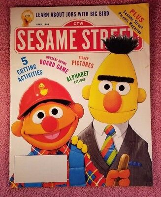 Sesame Street Magazine April 1995 Learn about Jobs with Big Bird