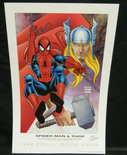 """1998 SDCC 12x18"""" Signed John Romita Print Limited Edition of 500 P022"""