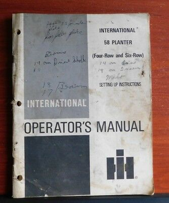 Ih International 58 Planter 4 6 Row - 1975 Operators Manual