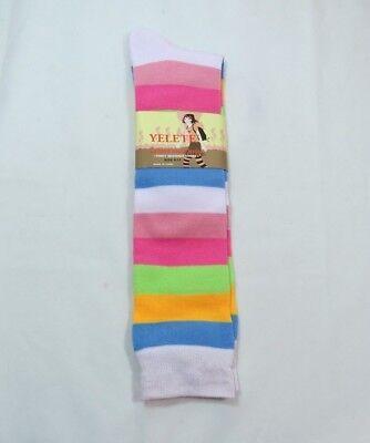 Wide Rugby Striped Knee High trouser socks White trim Women's 9-11 (Rugby Stripe Knee Socks)