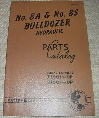 Cat Caterpillar 8a 8s Bulldozer Parts Book Manual Sn 7e501-up 3e501-up