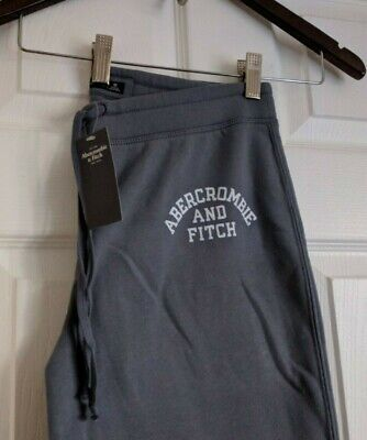 NWT- A&F Abercrombie & Fitch Women Logo Banded Sweatpants (Blue, M) for sale  Shipping to India