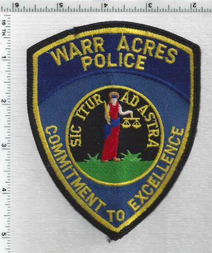 Warr Acres Police (Oklahoma) 4th Issue Uniform Take-Off Shoulder Patch
