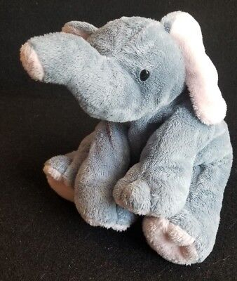 TY Pluffies WINKS the Elephant Soft Sewn Eyes 8 inch 2002 Plush Stuffed