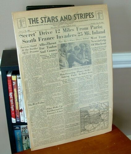 1944 WWII Stars & Stripes Newspaper US Armed Forces European Theater Vol 4 #248
