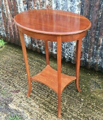 Edwardian Oval Mahogany Occasional Table