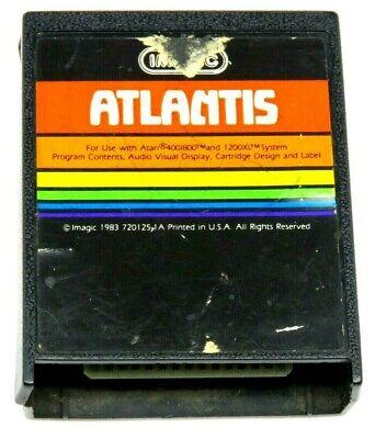 ATLANTIS (Atari 400/800/XL/XE, 1983) By Imagic (Cartridge Only) NTSC