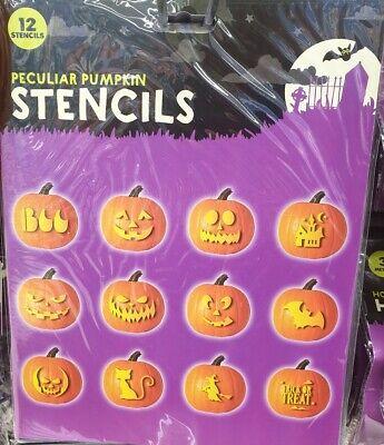 Best Halloween Pumpkin Carving (HALLOWEEN STENCIL BOOK PACK OF 12 STENCILS PUMPKIN CRAFT PATTERN CARVING)