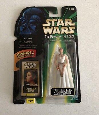 NEW Star Wars PRINCESS LEIA Power of the Force Flashback White Ceremonial Dress - Princess Leia White Dress