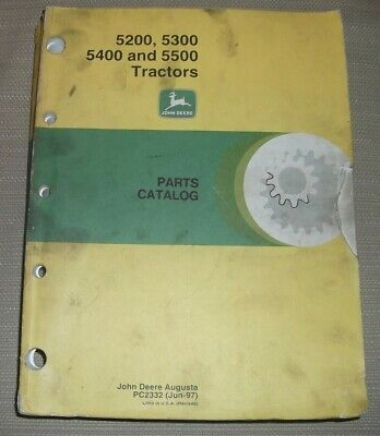 John Deere 5200 5300 5400 5500 Tractor Parts Manual Book Catalog Pc2332