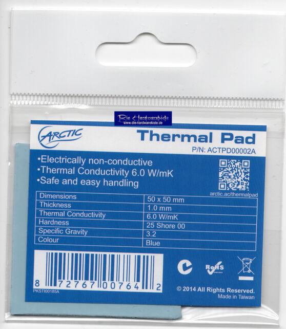 ARCTIC COOLING 50x50x1,0mm Thermal Pad Wärmeleitpad Hochleistungs-Gap Filler