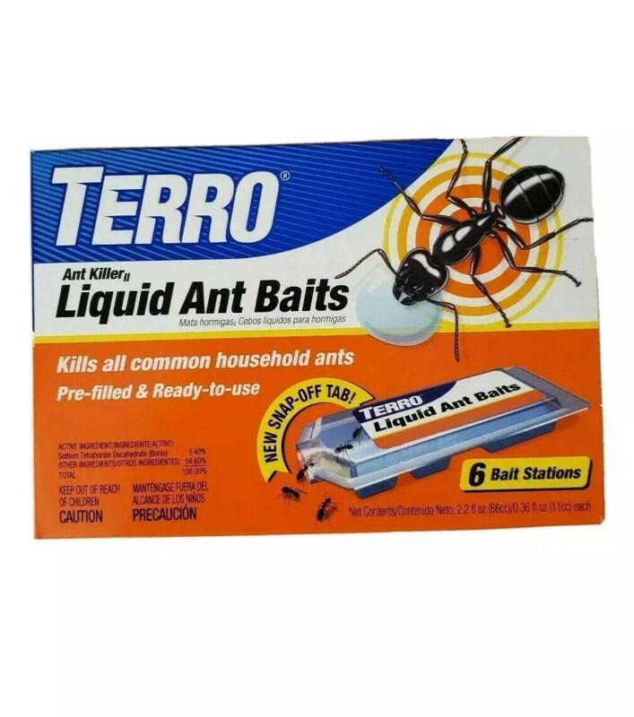 TERRO PreFilled Liquid Ant Killer II Baits, 2-Packs of 6 Baits Each