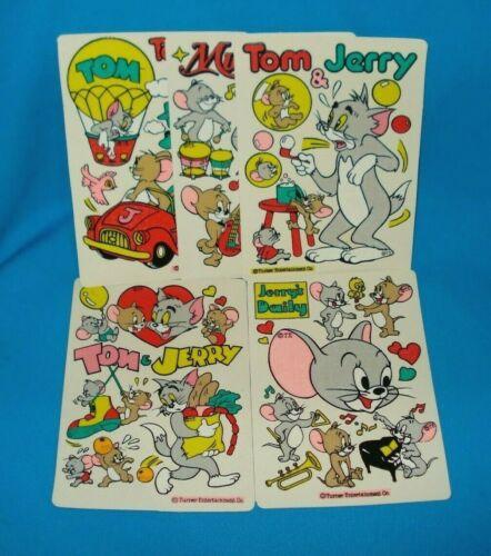 Vintage Tom & Jerry Sticker Set of 5 Reusable