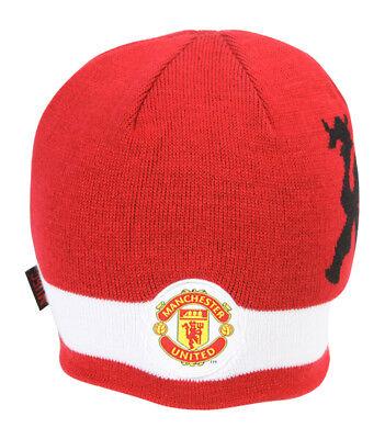 Manchester United Beanie - Manchester United Futbol Soccer Beanie Cap- Red