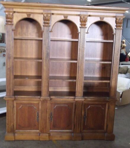 Hooker Lighted Two Piece Bookcase