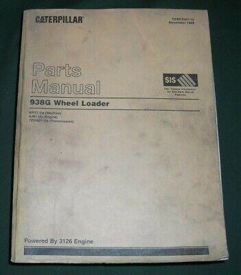 Cat Caterpillar 938g Wheel Loader Parts Book Manual Sn 6ws1-up