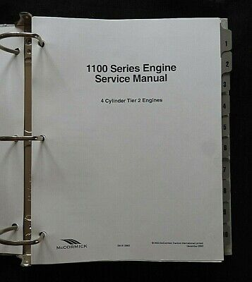 Mccormick Tractor 1100 Series 4 Cylinder Gas Diesel Turbo Engine Service Manual