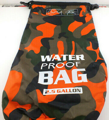 Camping Bag Hiking 2-1/2 Gallon Orange Camo Waterproof Roll Top Rip Stop