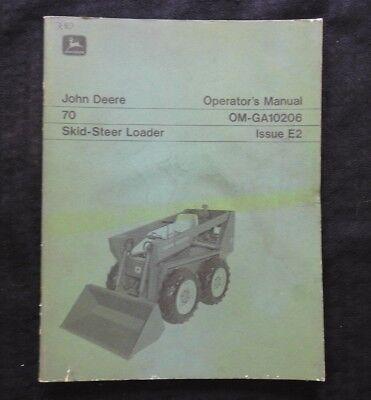 Genuine John Deere 70 Skid Steer Loader Tractor Operators Manual Very Good