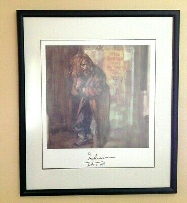 JETHRO TULL COLLECTION Aqualung Limited Edition Ian Anderson Signed Print 30x26