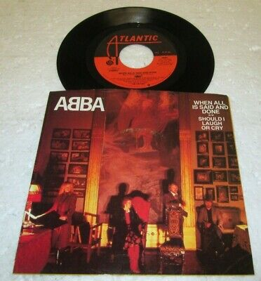 "ABBA WHEN ALL IS SAID & DONE 45 7"" NM NEAR MINT US ATLANTIC VINYL LISTEN w/PS"
