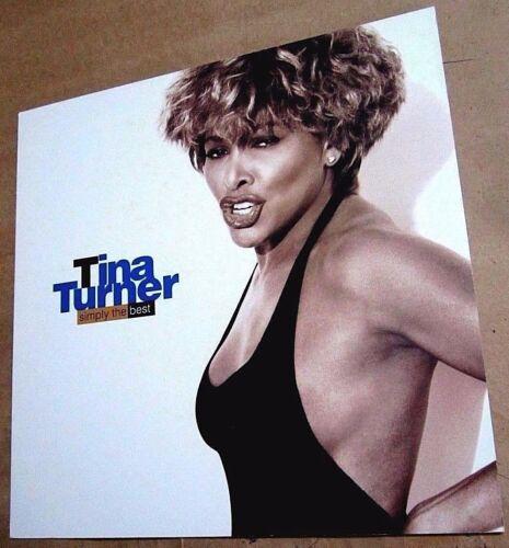 Tina Turner 1991 Double Sided Original Promo Poster Flat