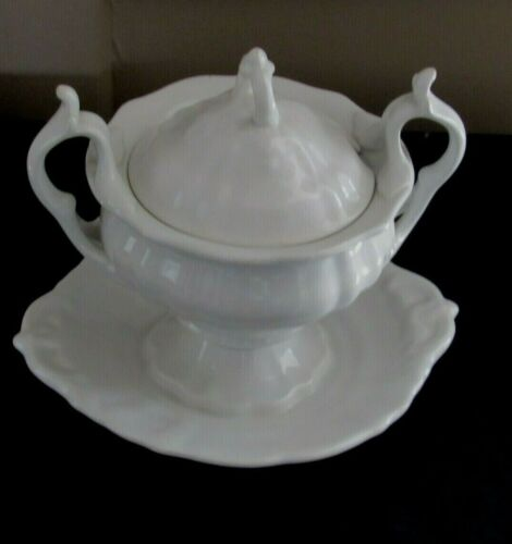 VICTORIAN SOUP TUREEN WHITE IRONSTONE Petrus Regout MAASTRICHT HOLLAND