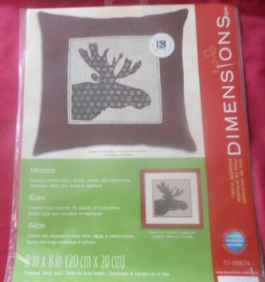 DIMENSIONS 2012  FABRIC APPLIQUE KIT   MOOSE   8